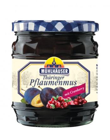 Orig. Thüringer Pflaumenmus (gewürzt) mit Cranberry, 450 g