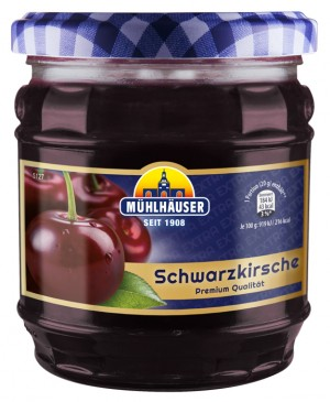 Extra-Konfitüre - Schwarzkirsch, 450 g