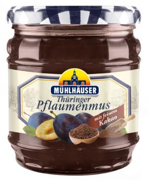 Orig. Thüringer Pflaumenmus (gewürzt) mit Kakao, 450 g